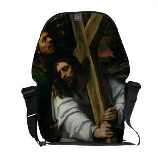 Jesus Carrying the Cross, c.1535 (oil on panel) Courier Bag