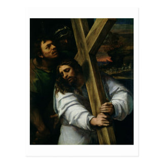 Jesus Carrying the Cross, c.1535 (oil on panel) Postcard