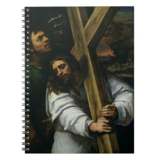Jesus Carrying the Cross, c.1535 (oil on panel) Spiral Notebook