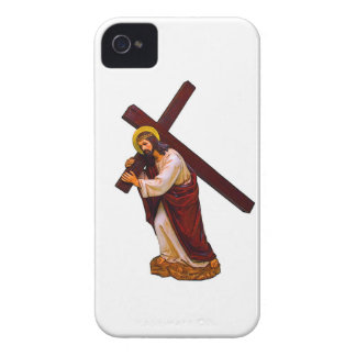 Jesus Carrying The Cross Figure iPhone 4 Case