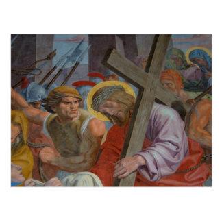 Jesus Carrying The Cross Postcard