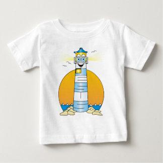 Jesus Cartoon Lighthouse Baby T-Shirt