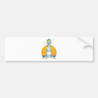 Jesus Cartoon Lighthouse Car Bumper Sticker