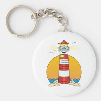 Jesus Cartoon Lighthouse Keychain