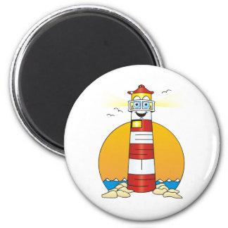 Jesus Cartoon Lighthouse 2 Inch Round Magnet