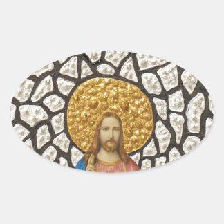 Jesus Case 1 Oval Sticker