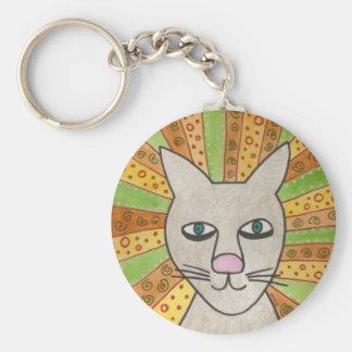 Jesus Cat Superstar Basic Round Button Keychain