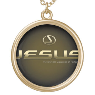 jesus chain gold plated necklace
