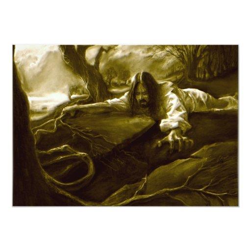 Jesus Christ Agony in the Garden of Gethsemane Custom Invitations