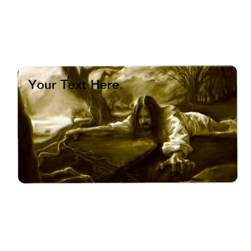Jesus Christ Agony in the Garden of Gethsemane Personalized Shipping Label