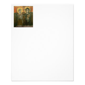 "Jesus Christ and Abbot Coptic Icon 4.5"" X 5.6"" Flyer"