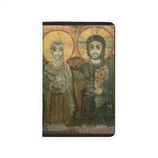 Jesus Christ and Abbot Coptic Icon Journal