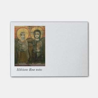 Jesus Christ and Abbot Coptic Icon Post-it® Notes