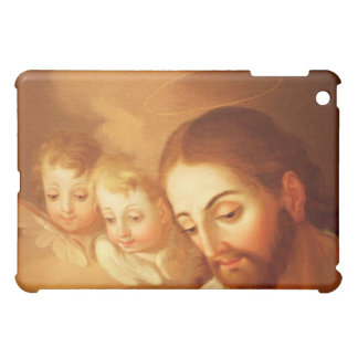 Jesus Christ and Angels Gazing Down From Heaven iPad Mini Cover