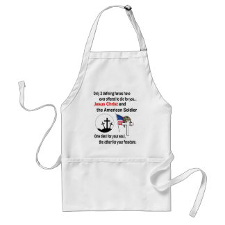 Jesus Christ and the American Soldier 2nd Version Adult Apron