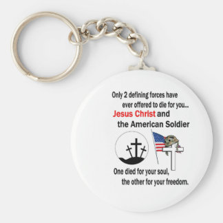 Jesus Christ and the American Soldier 2nd Version Keychain