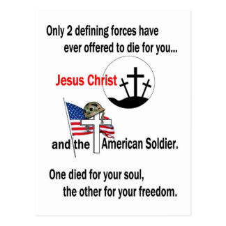 Jesus Christ and the American Soldier 2nd Version Post Cards