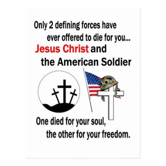 Jesus Christ and the American Soldier 2nd Version Post Card