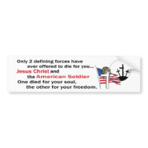 Jesus Christ and the American Soldier 4th version Bumper Sticker
