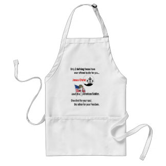 Jesus Christ and the American Soldier Adult Apron