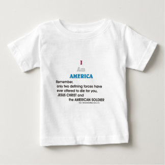 Jesus Christ and the American Soldier Baby T-Shirt