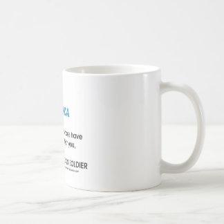 Jesus Christ and the American Soldier Coffee Mug