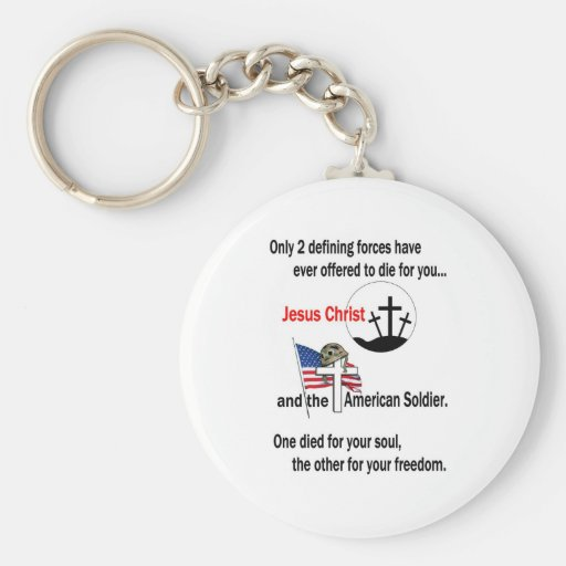 Jesus Christ and the American Soldier Key Chain