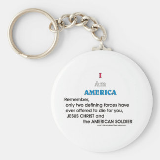 Jesus Christ and the American Soldier Key Chains