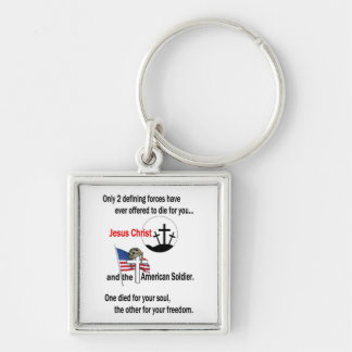 Jesus Christ and the American Soldier Keychain