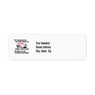 Jesus Christ and the American Soldier Custom Return Address Labels