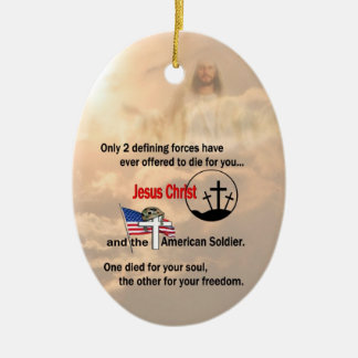Jesus Christ and the American Soldier Ornament