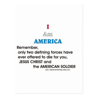 Jesus Christ and the American Soldier Postcard