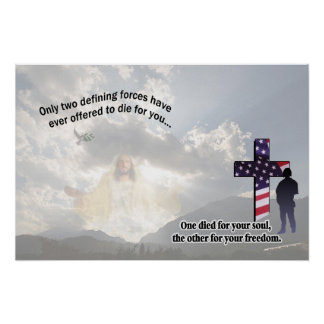 Jesus Christ and the American Soldier Poster
