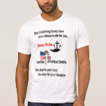 Jesus Christ And The American Soldier T-shirt at Zazzle