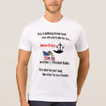 Jesus Christ and the American Soldier T-shirts
