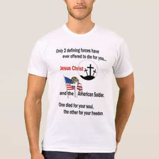 Jesus Christ and the American Soldier Tee Shirt