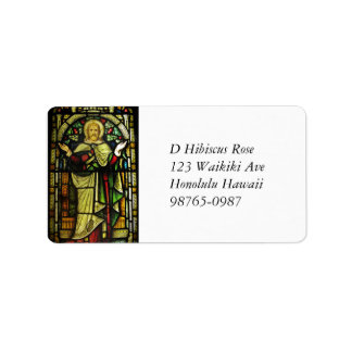 Jesus Christ Arms Outstretched Address Label
