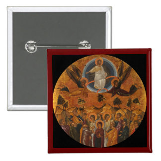 Jesus Christ Ascending to Heaven Button