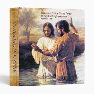 Jesus Christ Baptism Binder Option
