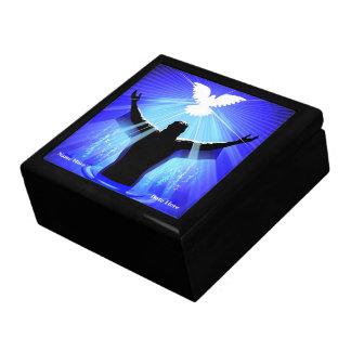 JESUS CHRIST BAPTISM & DOVE BOX KEEPSAKE BOX