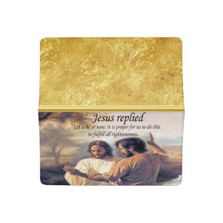 Jesus Christ Baptism image one Checkbook Cover