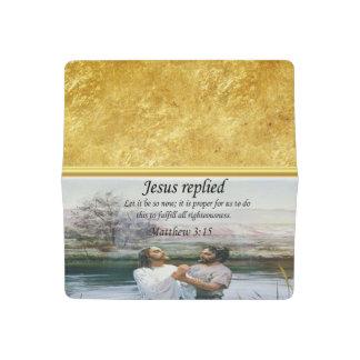 Jesus Christ Baptism image two Checkbook Cover