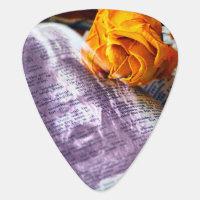 Jesus Christ Bible Yellow Rose Guitar Pick