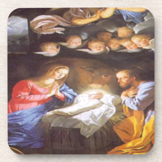 JESUS CHRIST BIRTH BEVERAGE COASTER