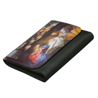 JESUS CHRIST BIRTH LEATHER WALLET FOR WOMEN