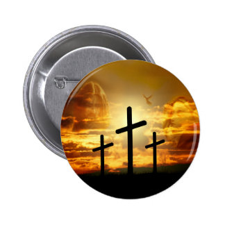 Jesus Christ Blessed Virgin Mary Dove Calvery Pinback Button