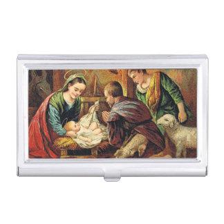 JESUS CHRIST BORN BUSINESS CARD HOLDER