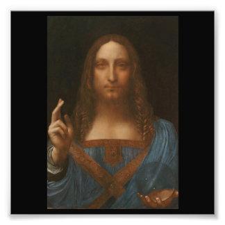 Jesus christ by Leonardo da Vinci,renaissance pain Photo Print