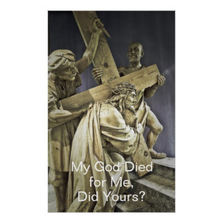 Jesus Christ Carrying Cross Poster