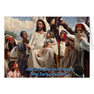 jesus christ christmas card
